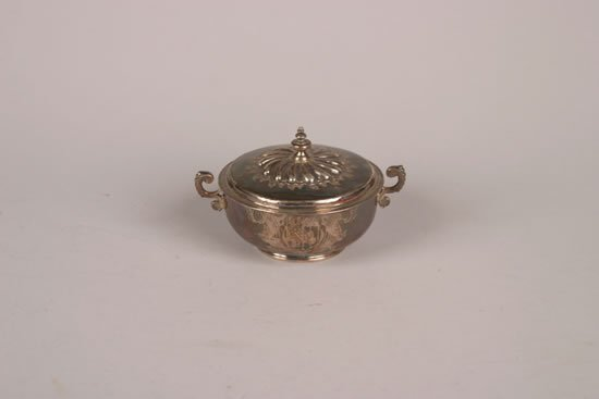 256: A William & Mary Silver Porringer and Cover, Maker