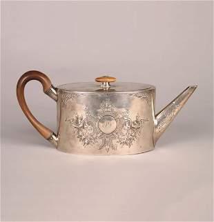 A George III Silver Teapot, Andrew Fogelberg & Ste