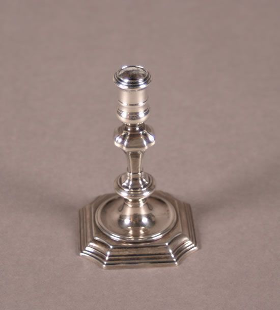 An English Silver Taperstick, London,