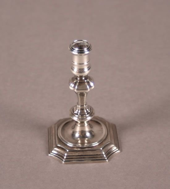 266: An English Silver Taperstick, London,
