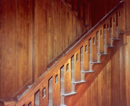 911: A Limbert Oak Staircase and Railing,