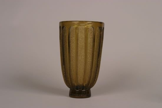 931: A Daum Nancy Amber Glass Vase,