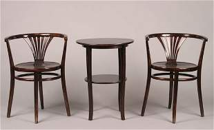 A Pair of Thonet Bentwood Side Chairs,