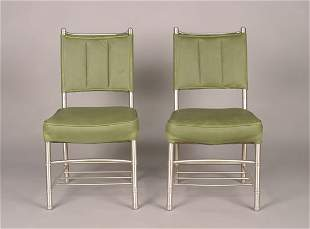 A Pair of Warren McArthur Side Chairs,