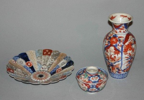 4001: A Group of Japanese Imari Porcelain Imari Article