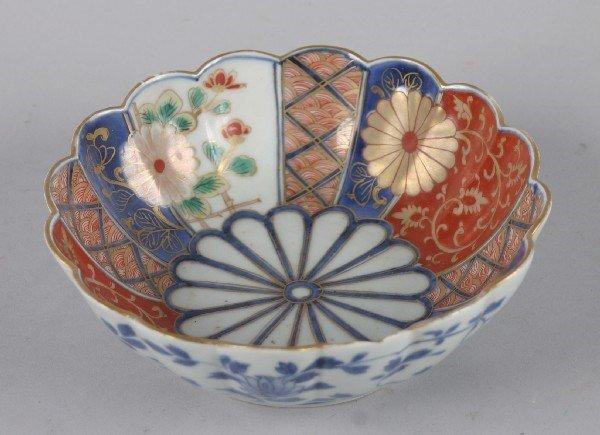 4010: A Japanese Imari Porcelain Foliate Bowl,
