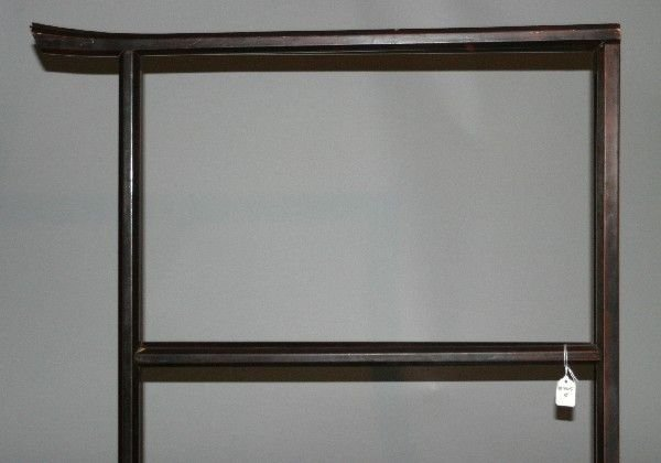 4013: A Lacquered Kimono Stand, Height 60 x width 59 in