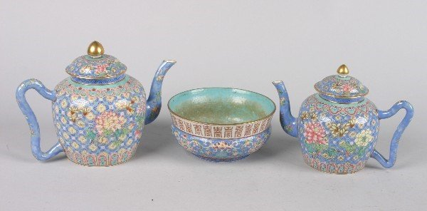 4103: A Chinese Famille Rose Porcelain Coffee and Tea S