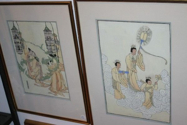 4002: A Group of Two Chinese Paintings.