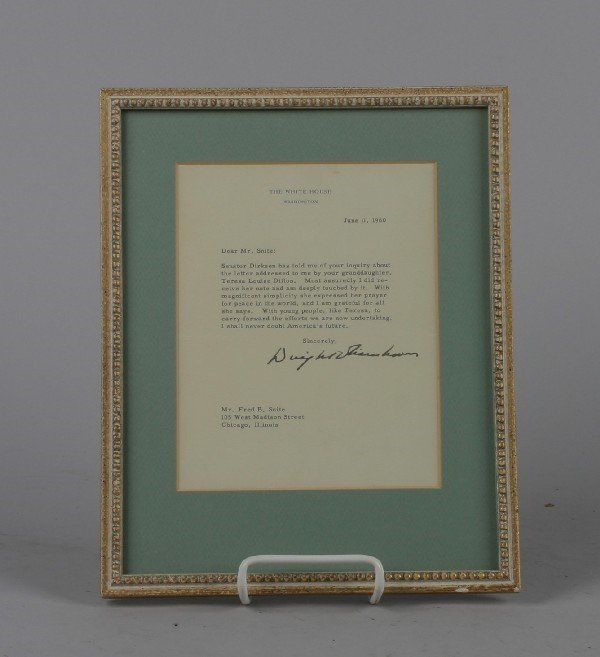 4566: A Typed and Autographed Letter from Dwight D. Eis