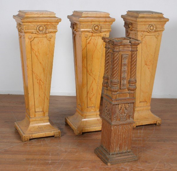 5197: A Group of Three Faux Marble Neoclassical Style P