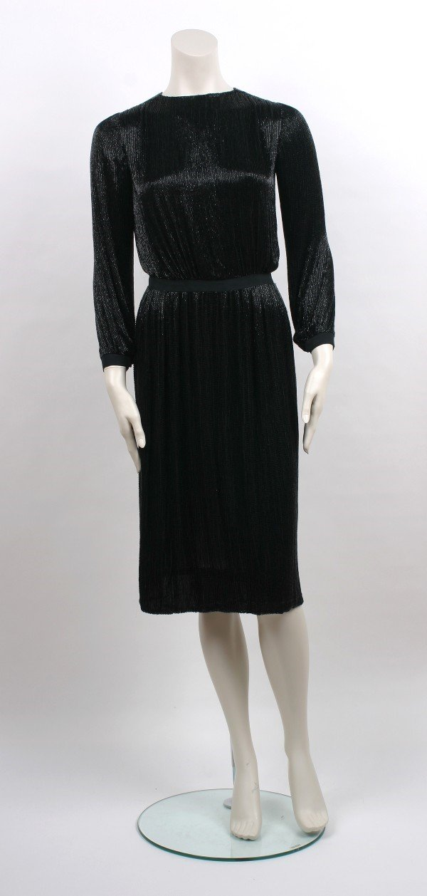 3: Norman Norell Black Beaded Shirtwaist Dress