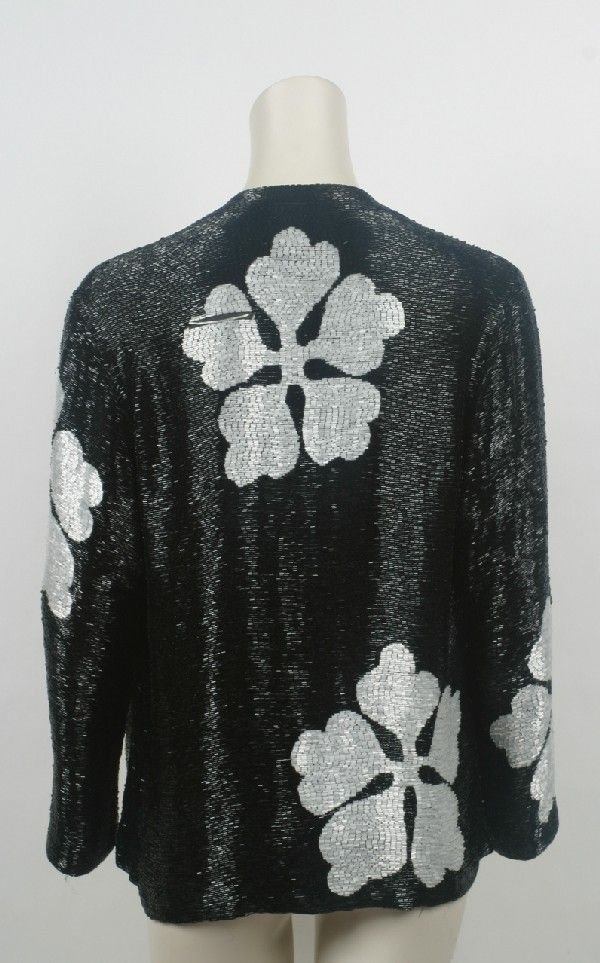 4: Norman Norell Black Bugle Beaded Jacket