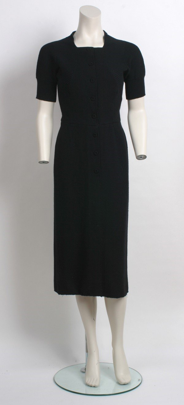 9: Traina-Norell Black Knit Dress