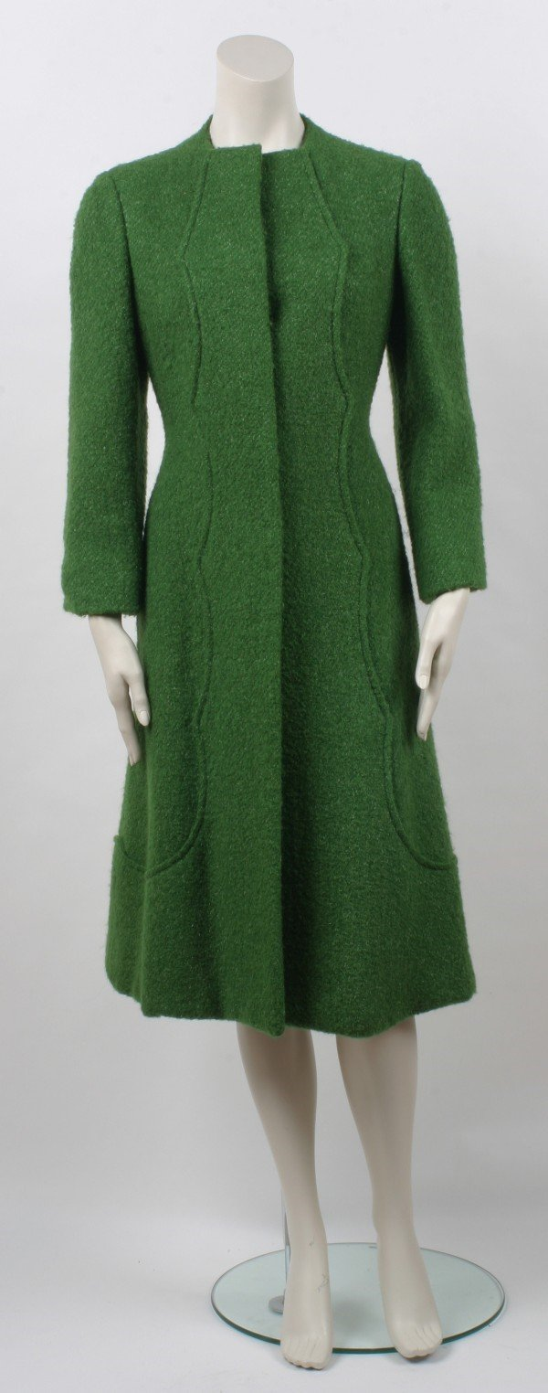 20: Pauline Trigere Green Coat