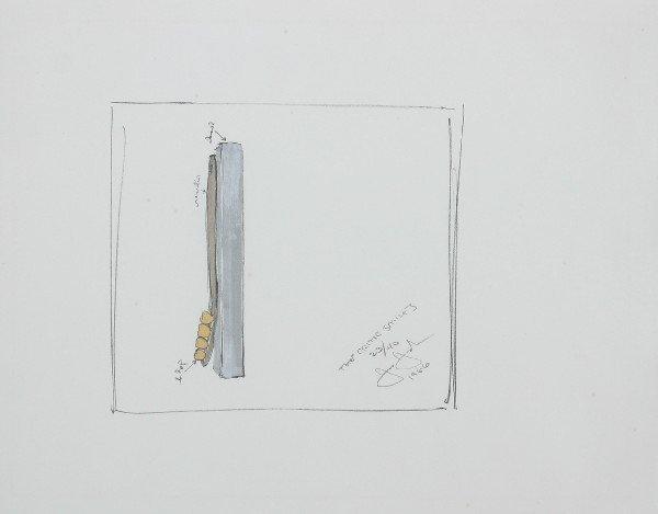 1: Jasper Johns, (American, b. 1930), The Critic Smiles