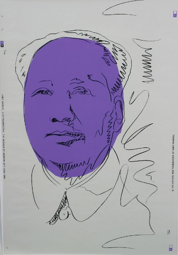 3: Andy Warhol, (American, 1928-1987), Mao