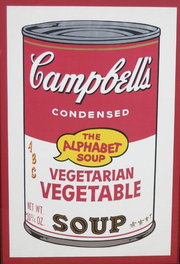 4: Andy Warhol, (American, 1928-1987), Vegetarian Veget