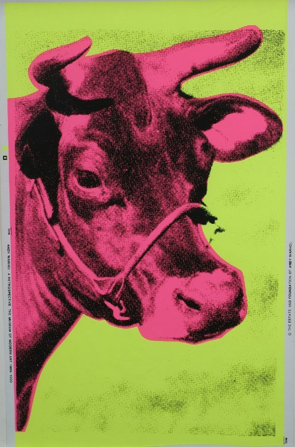 5: Andy Warhol, (American, 1928-1987), Cow