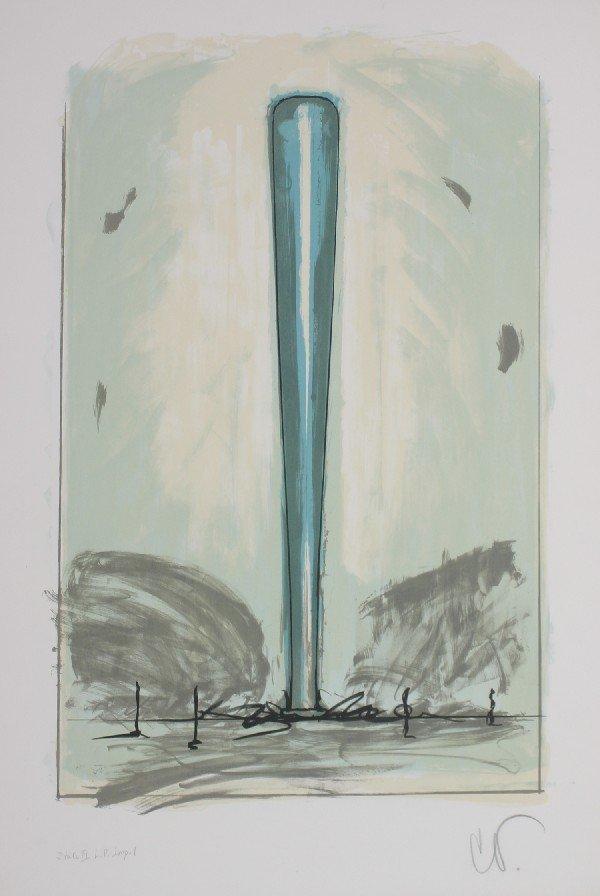 11: Claes Oldenburg, (American, b. 1929), Bat, State II