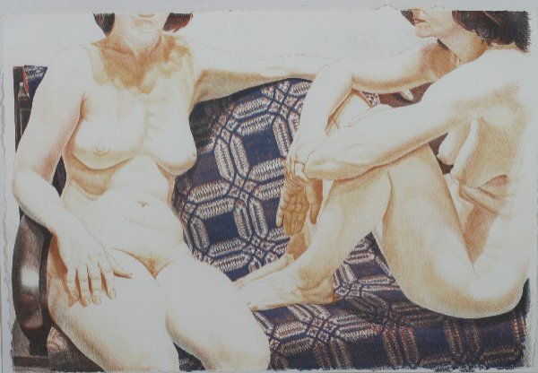 17: Philip Pearlstein, (American, b. 1924), Two Nudes o