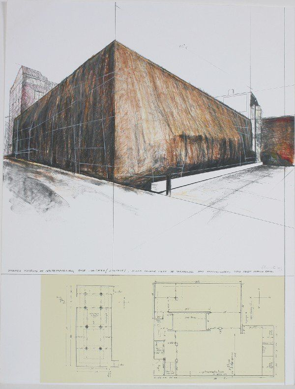 21: Christo, (American, b. 1935), Wrapped Museum of Con