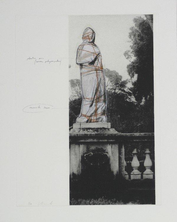 22: Christo, (American, b. 1935), Wrapped Venus- Villa