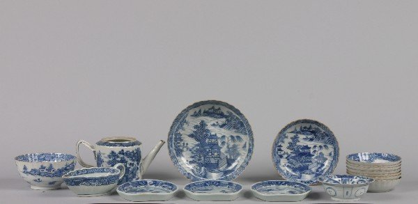 528: A Group of Chinese Export Nanking Blue and White P