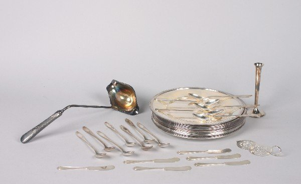 10: A Group of Silver and Silver Plate Articles,