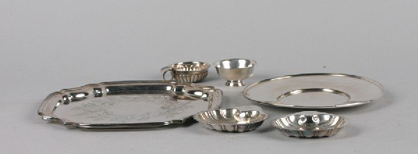 14: A Group of Silver Plate Table Articles, Length of l