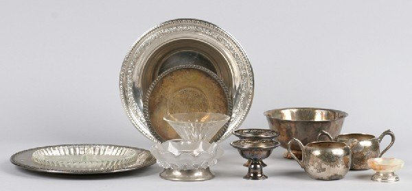 21: A Group of Silver Plate Table Articles, Length of l