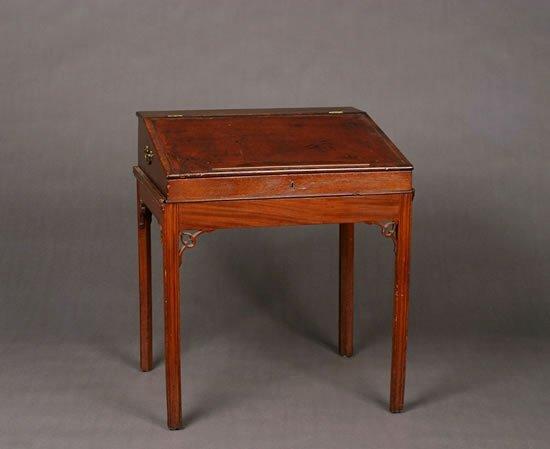 4: A George III Mahogany Writing Desk,