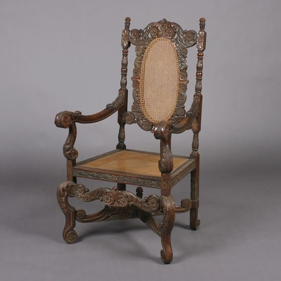 7: A Victorian Caned Chair.