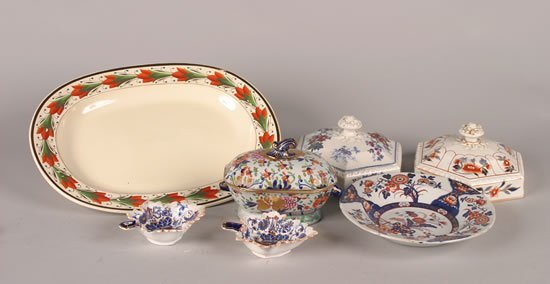 13: A Group of Ironstone Table Articles,
