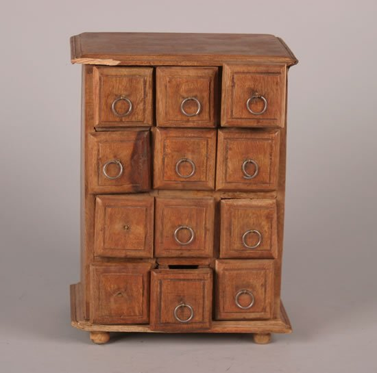 15: A Wooden Spice Cabinet.