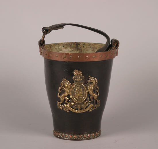 391: An English Leather Fire Bucket,