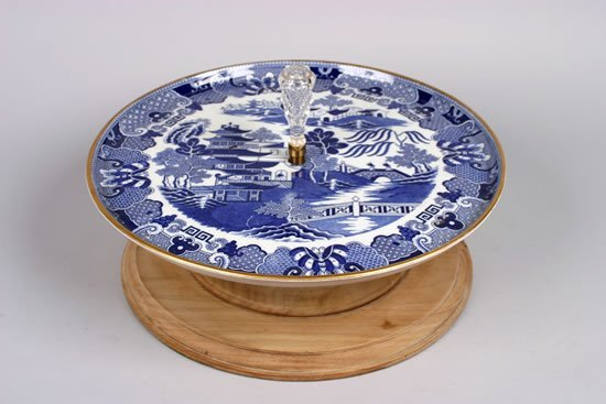 492: A Copeland Willow Pattern Lazy Susan.