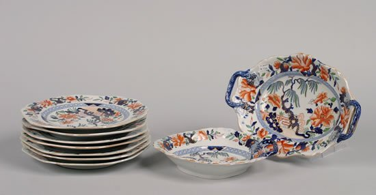 499: An English Ironstone Partial Luncheon Service,