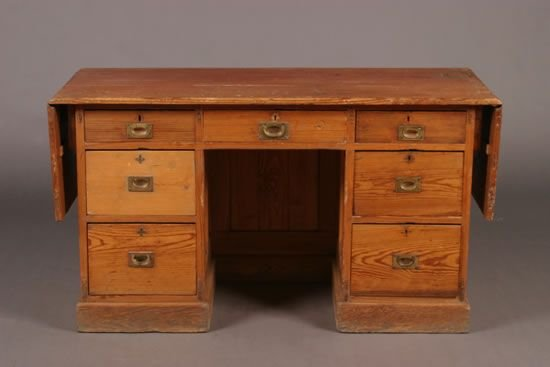 503: A Pine Drop Leaf Desk.