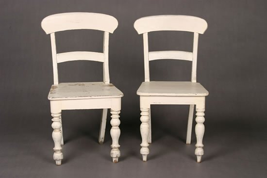 504: A Pair of Painted Side Chairs.