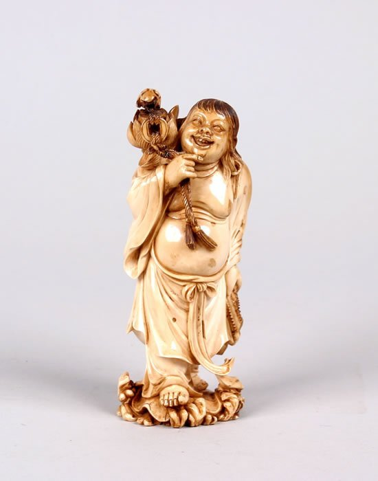 690: A Chinese Carved Ivory Figure,