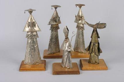 418A: Five Sheet Metal Figures, Height of tallest 14 1/