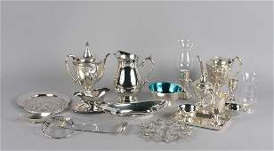 569 A Group of Silverplate and Metal Table Articles