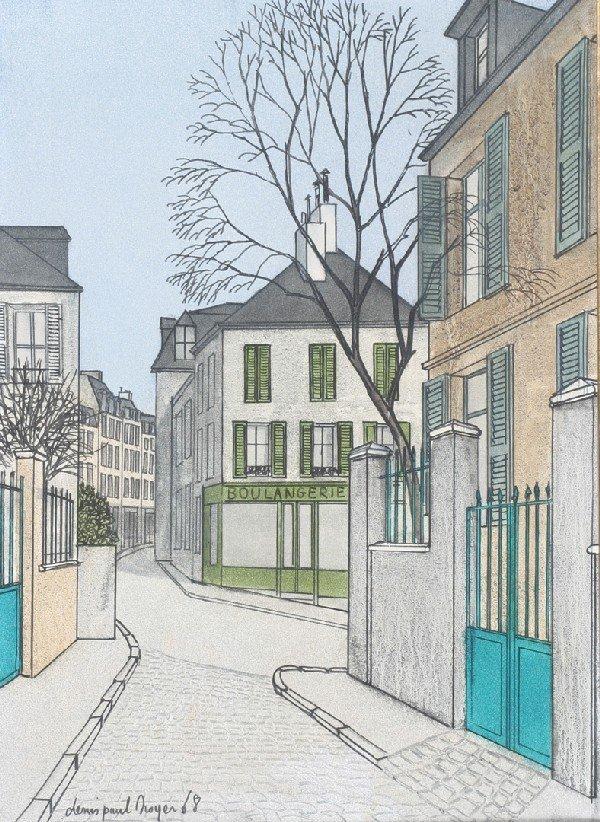 1: Denis Paul Noyer, (French, b. 1940), Montmartre, 196