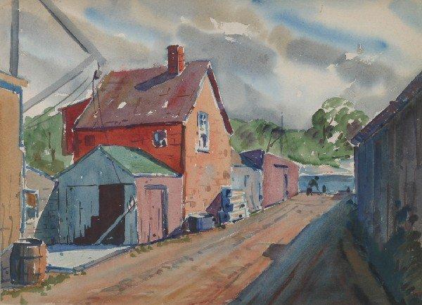 5: C Roy (LeRoy) Morse, (American, b. 1913), Fish Shed