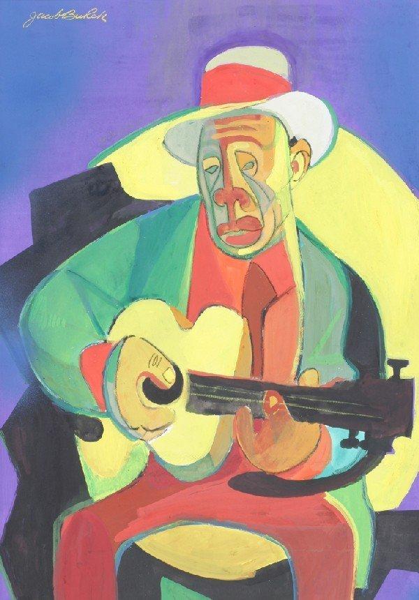 11: Jacob Burck, (American, b. 1907), Man with Guitar