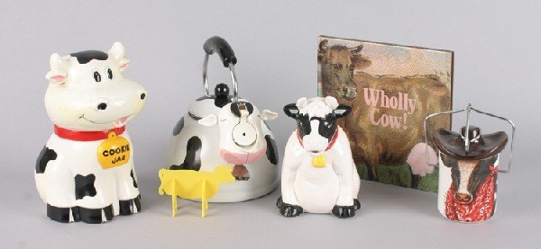 10: Mancow: A Group of Miscellaneous Cow Themed Items,