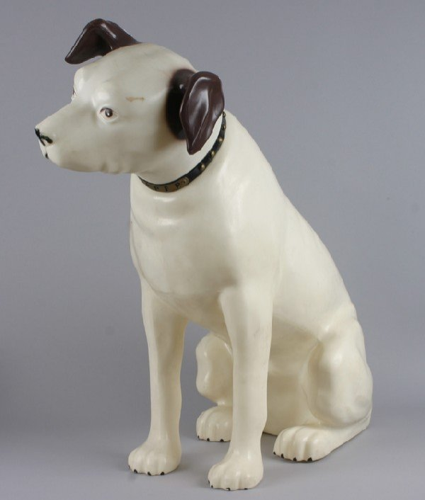 "327:Mancow:  A Large, White Nipper"" RCA Dog Statue,"