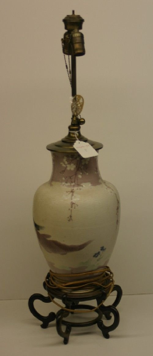3B: A Chinese Porcelain Vase, Height 15 inches.