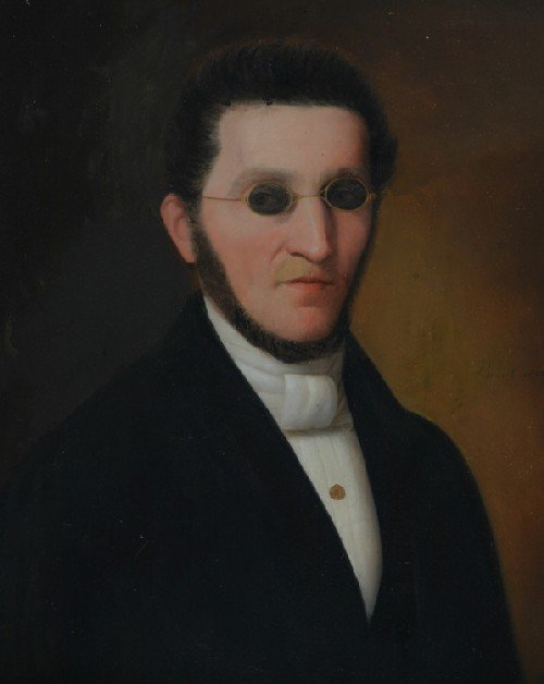 10B: Continental School, 19th century, Portrait of a Ge